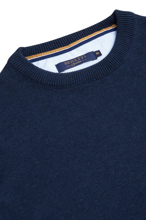 Benetti Cotton Crew Neck Jumper (+colours)