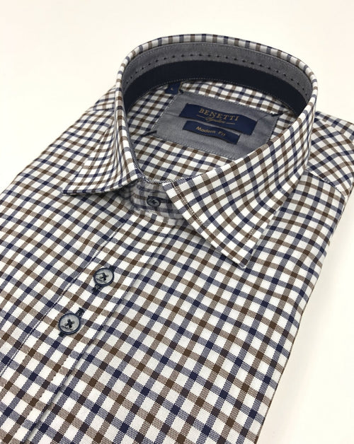 Benetti Conor Check Print Shirt