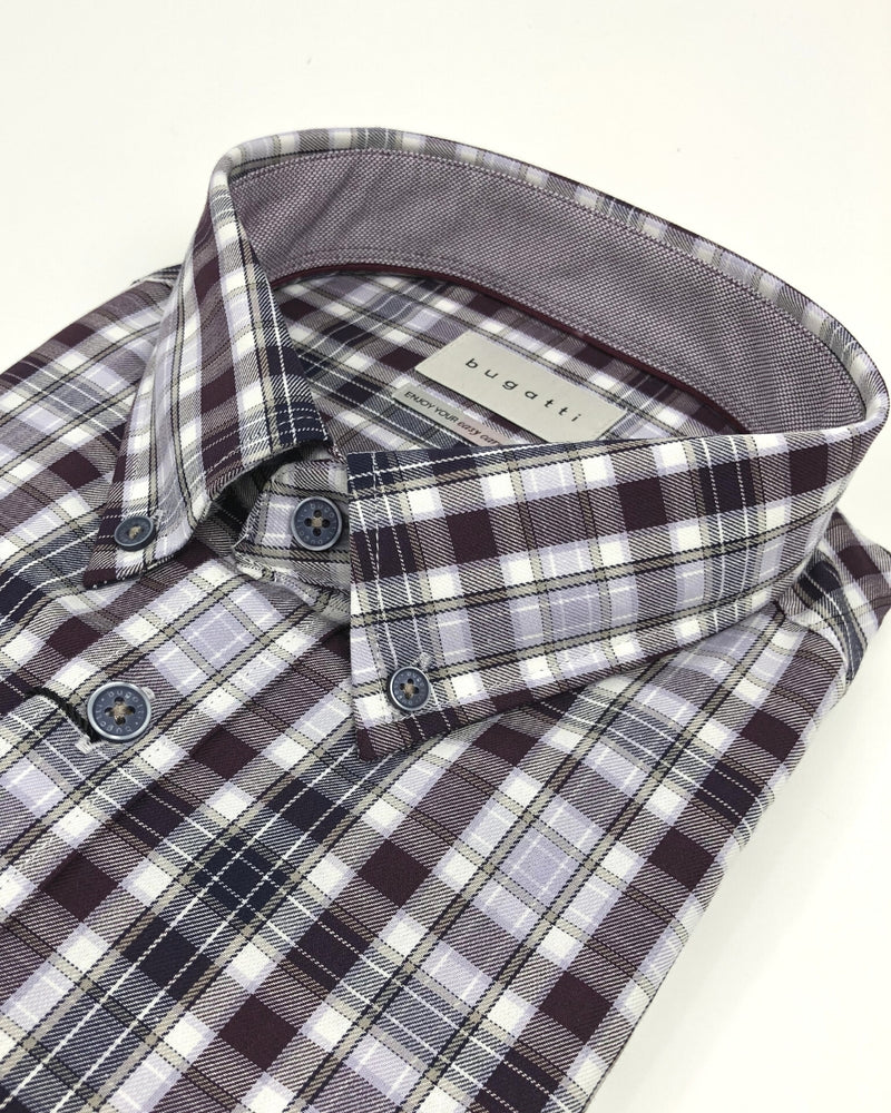 Bugatti Check Print Modern Fit Shirt