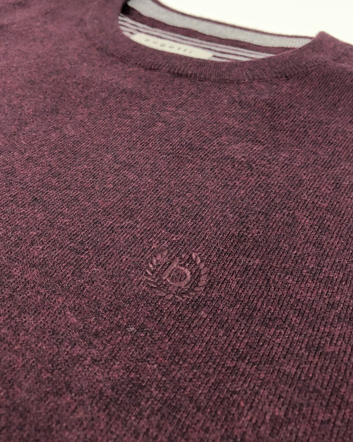 Cotton Cashmere Crew Neck Knit Jumper