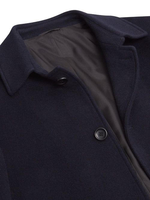 Daniel Grahame Branson Single Breasted Wool Rich Coat with Collar