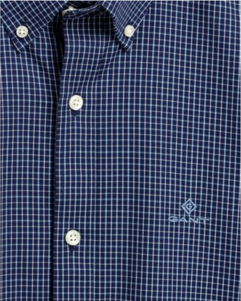 Gant Tattersall Pinpoint Oxford Shirt