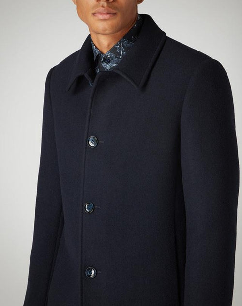 Remus Uomo Tailored Fit Navy Rueben Coat