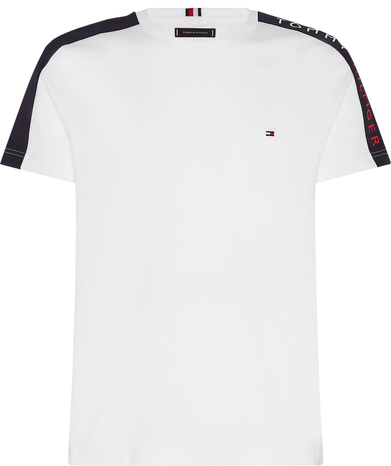 Tommy Hilfiger White T-Shirt Sleeve Tape Branding