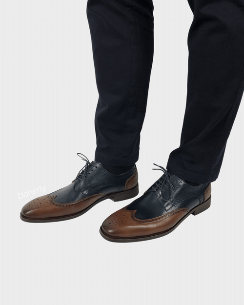 Navy and Brown Chris Brogue