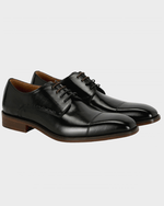 Black Arthur Toecap Shoes