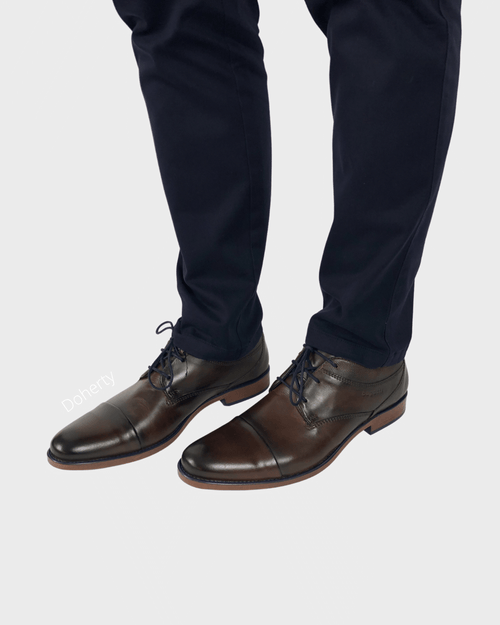 Dark Brown Toecap Shoes