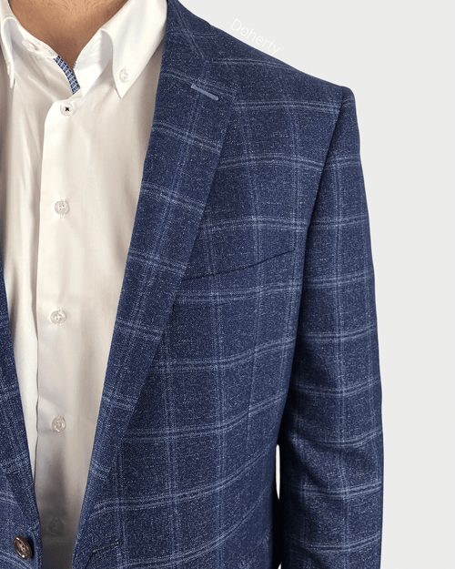 Daniel Grahame Blue Check Blazer