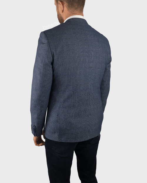 Daniel Grahame Light Blue Check Blazer