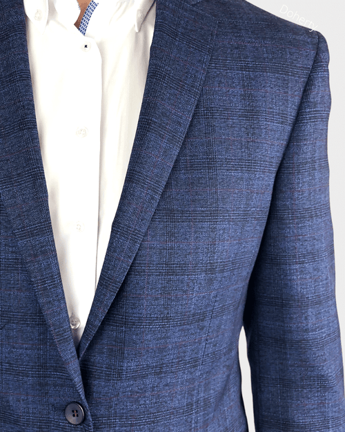 Daniel Grahame Navy Check Blazer
