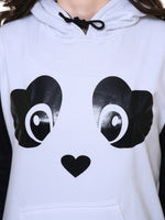 Load image into Gallery viewer, Panda hoodie with faux fur ball