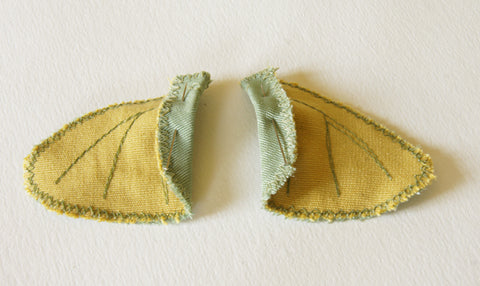 finished underwings viewed from the back, inside upper edge folded over