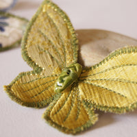 Butterfly Hair Clips silk and cotton entomology jewelry