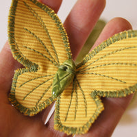 Textile Butterfly Hair Clips Entomology Accessory