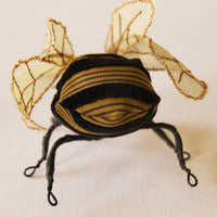 Golden Bumblebee Textile Soft Sculpture