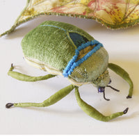 Soft Sculpture Mystical Scarab in green