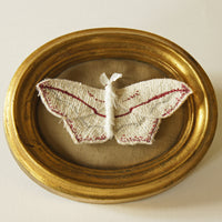 Blood Vein moth brooch or hairclip Textile Jewelry