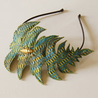 Fiber Art Fern Headband in Silk Botanical Accessory