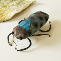 Fiber Art Sculpture Jewel Beetle Natural History Inspired