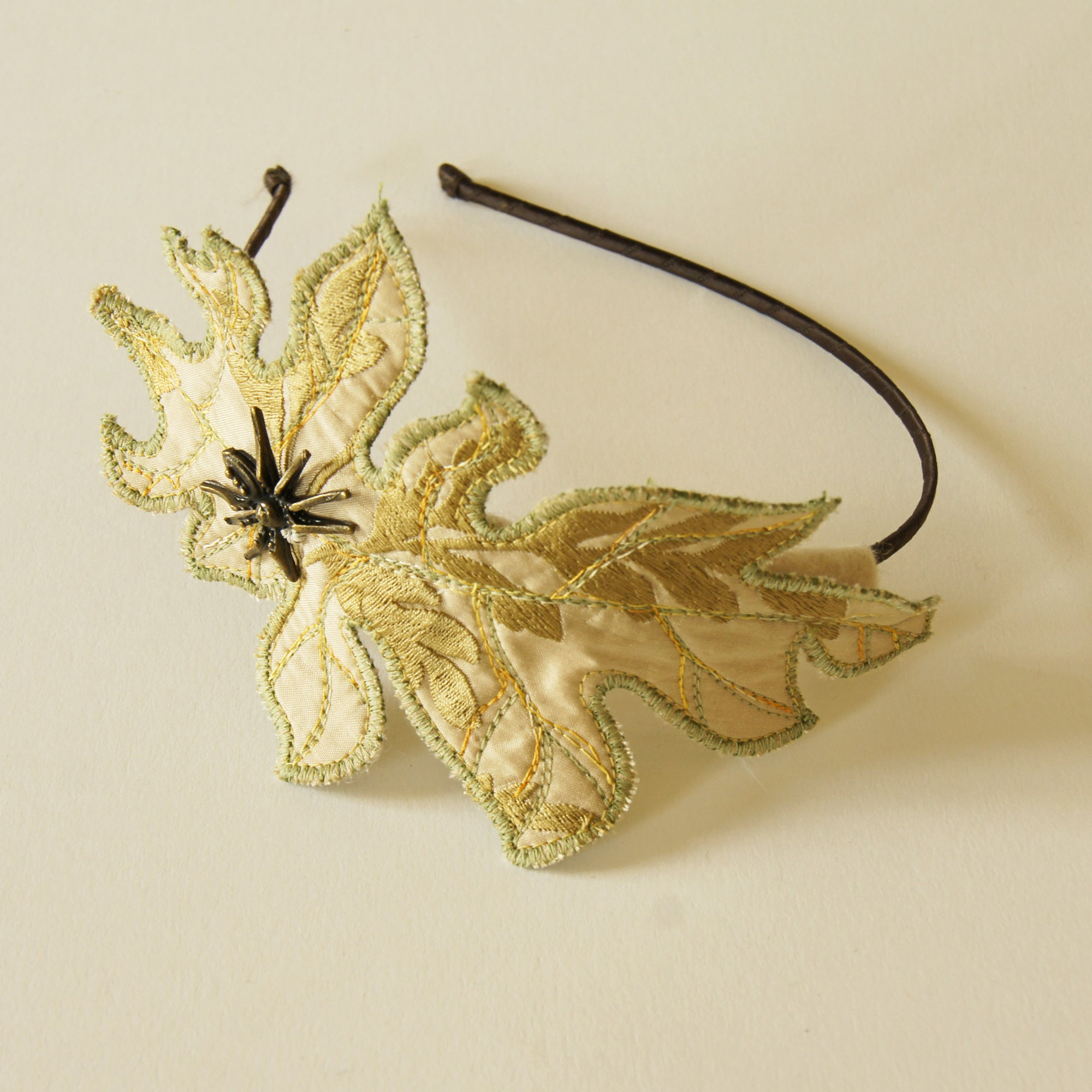 Fiber Art Acanthus Leaf Headband