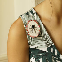 Embroidered Jewelry Arachnophile Brooch Pin RedBack Spider