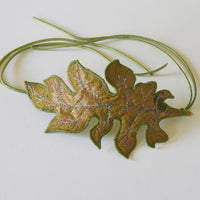 Acanthus Leaf Bun Wrap Botanical Hair Accessory