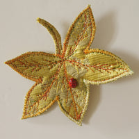 Textile Sweetgum Leaves Hair Clips