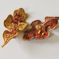 Oak Leaf Hair Clips Autumn Botanical Accessory