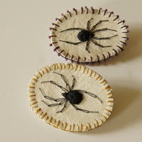 Black Widow Spider Pin Embroidered Jewelry for Arachnophiles