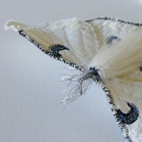 White Luna Moth Brooch Created in Collaboration with Nuit Clothing Atelier