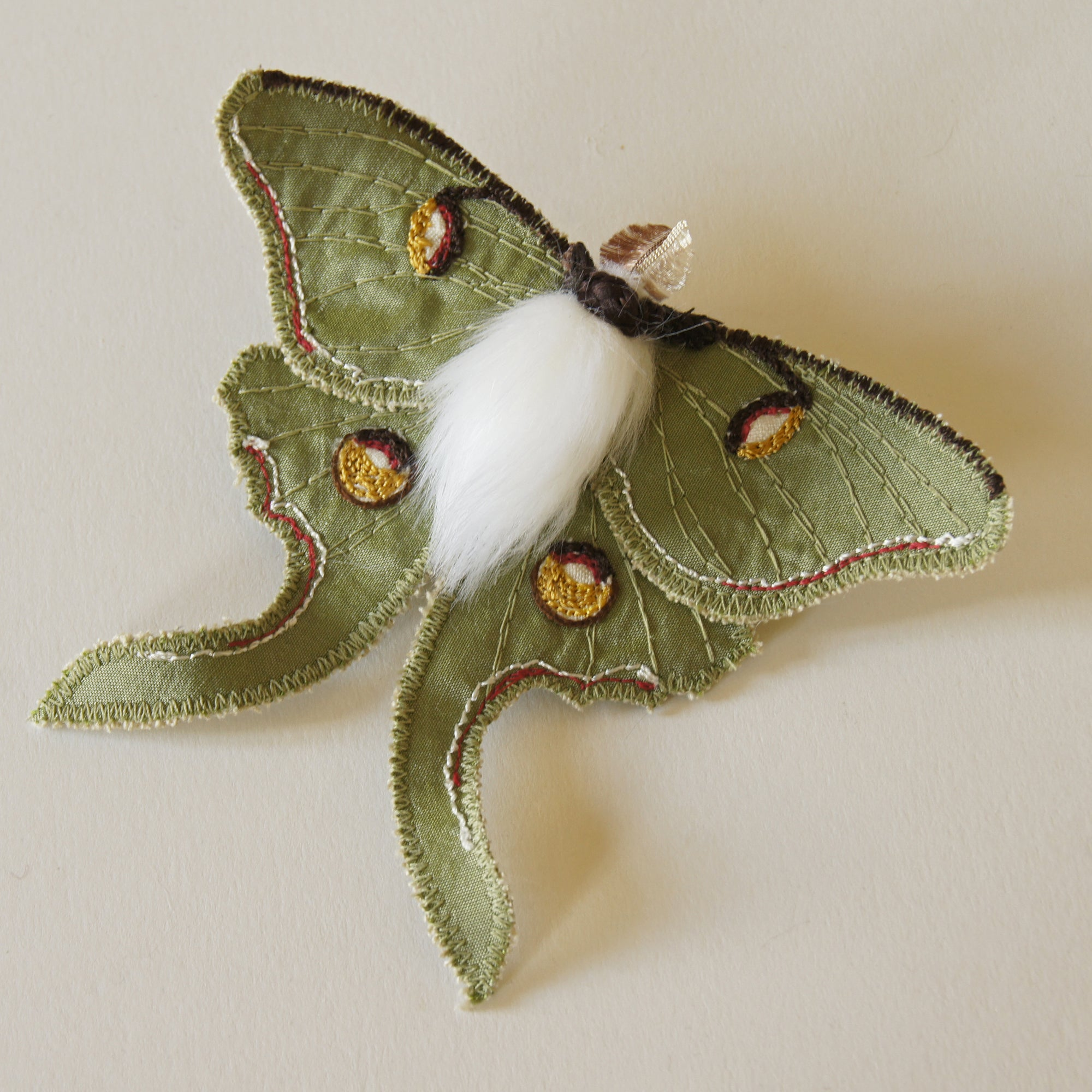 Luna Moth Brooch Entomology Jewelry Last one
