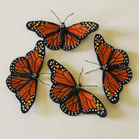 Monarch Butterfly Brooch Hairclip Entomology Jewelry