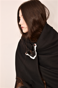 Promethea Silkmoth Brooch Created in Collaboration with Nuit Clothing Atelier