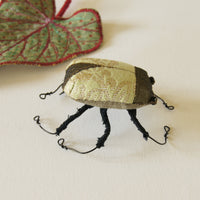 Magical Scarab Beetle soft sculpture vintage fabrics