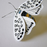 Giant Leopard Moth Brooch Textile Butterfly