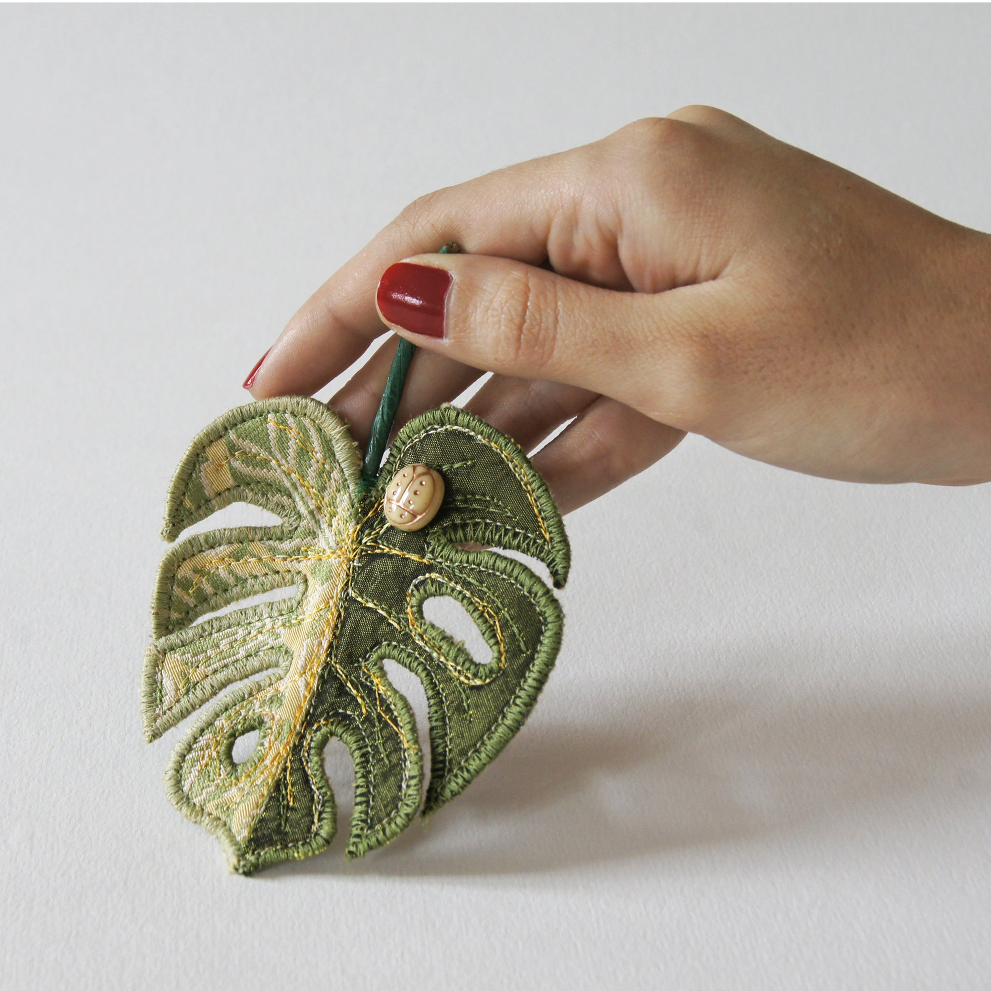 Fiber Art Brooches