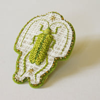 Chartreuse Longhorn Beetle Sew-On Patch