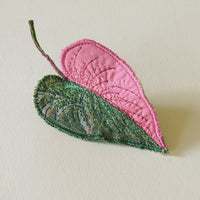 Pink Princess Philodendron Brooch