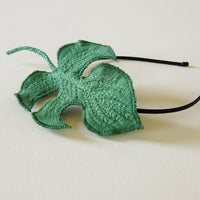 Rhaphidophora tetrasperma Headband, Tropical Leaf Fascinator