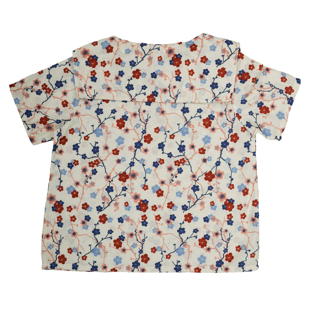 Top Delia en coton Cherry flower