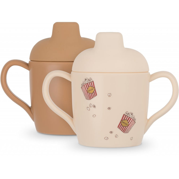 Duo de tasses d'apprentissage popcorn