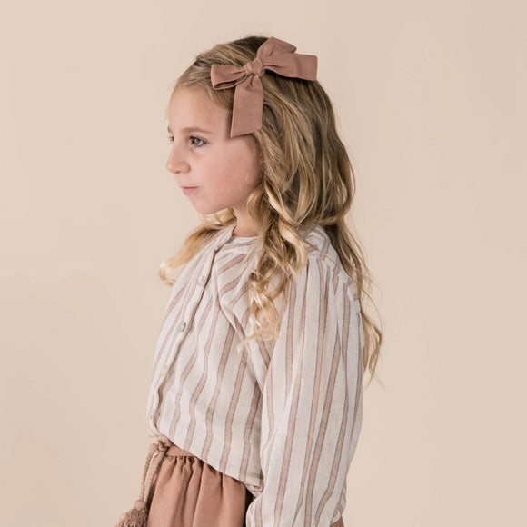 Blouse Meadow truffle stripe