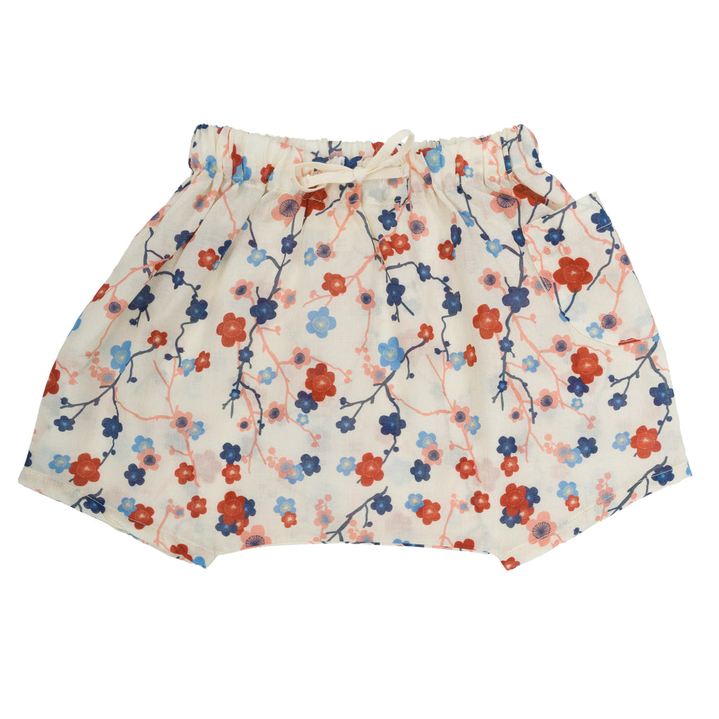 Short Tomy en coton Cherry flower