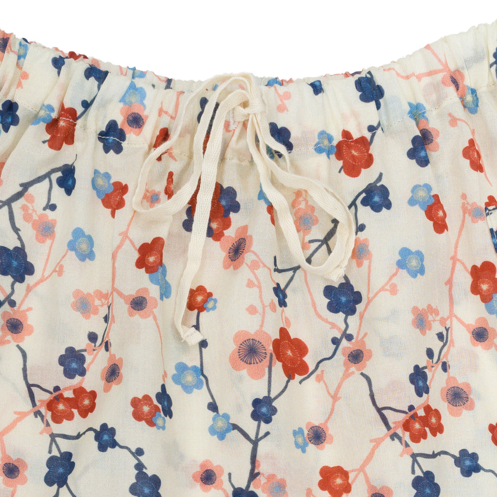 SHORT TOMY EN COTON CHERRY FLOWER OMIBIA