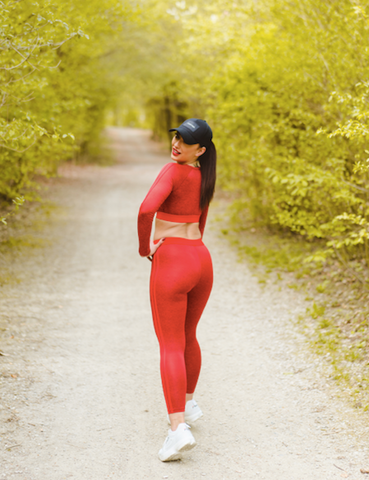 LEGGINGS & SPORT BH MILANO - Red