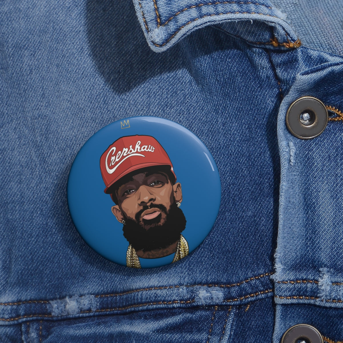 King Nip Red Hat Button