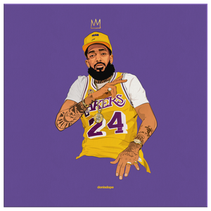 King Nipsey x King Kobe V2 Square Canvas