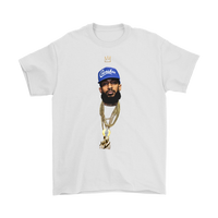 King Nipsey Blue Tee (4X-5X)