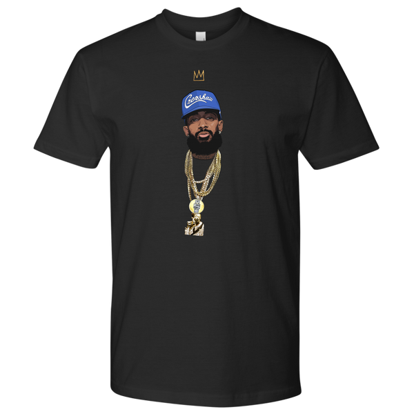 King Nipsey V2 Illustrated Tee (Blue Hat)