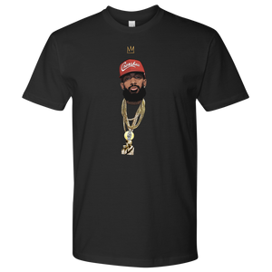 King Nipsey V2 Illustrated Tee (Red Hat)